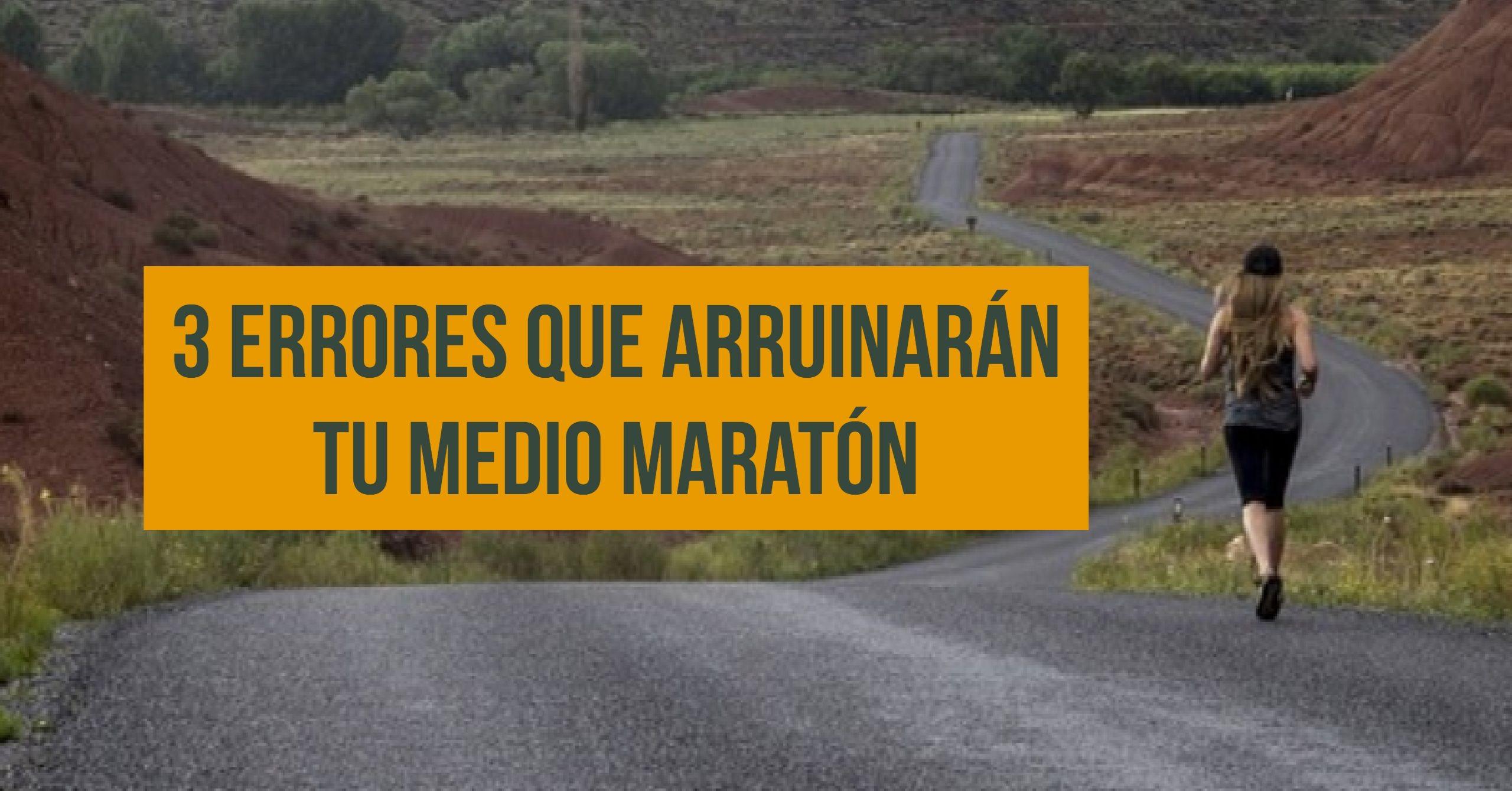 errores medio maratón
