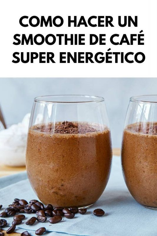 Como hacer un SMOOTHIE DE CAFÉ super energético