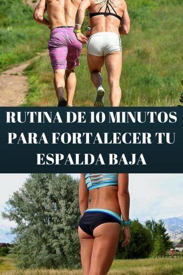 RUTINA FORTALECER ESPALDA BAJA