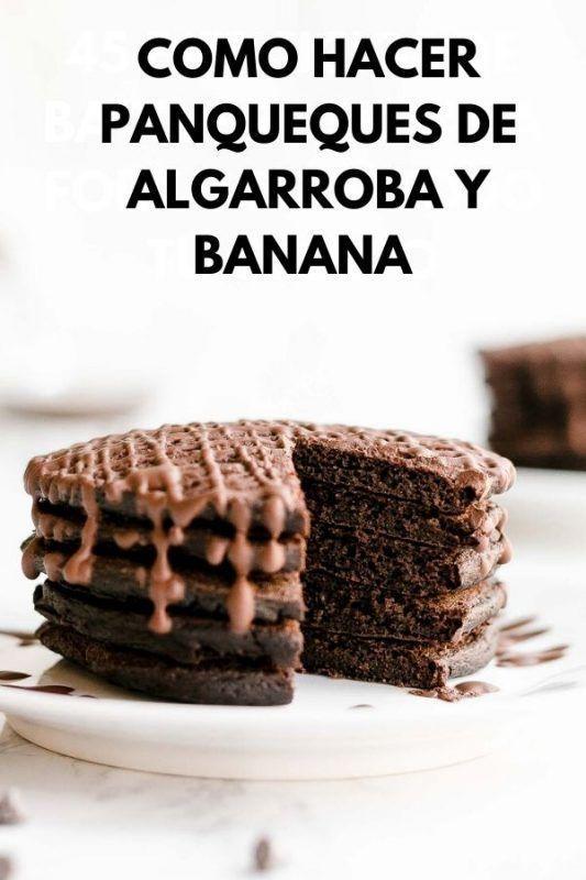 Panqueques de algarroba y banana
