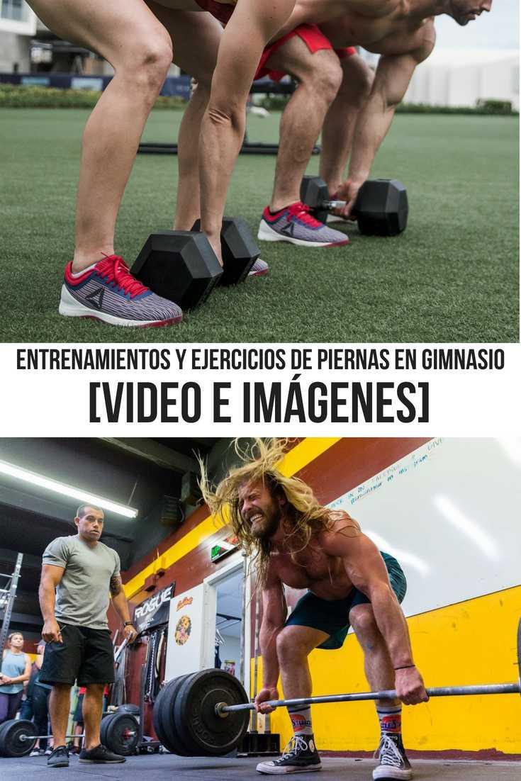 ejercicios de piernas en gimnasio