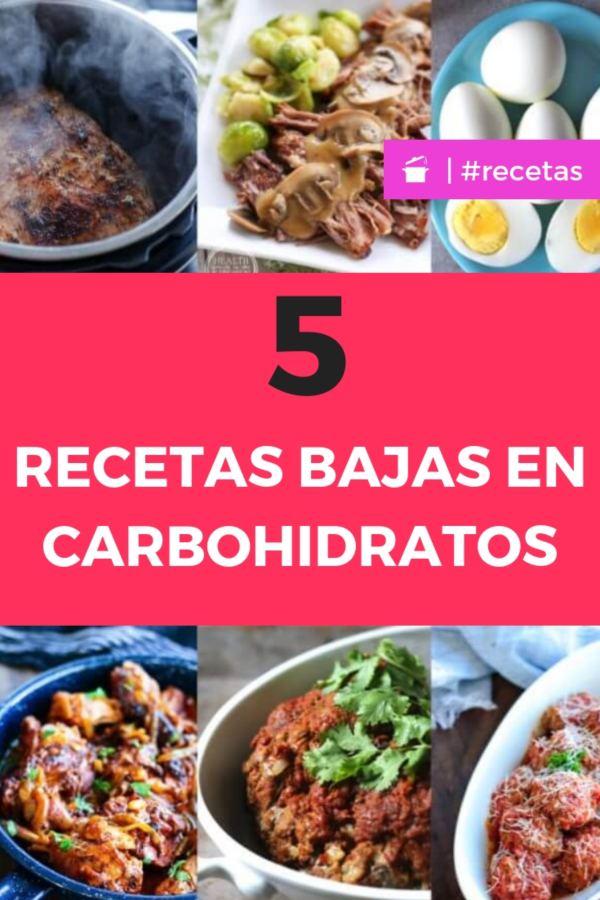 recetas bajas en carbohidratos