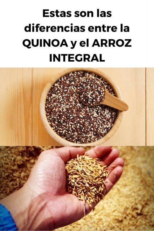 Estas son las diferencias entre la QUINOA y el ARROZ INTEGRAL