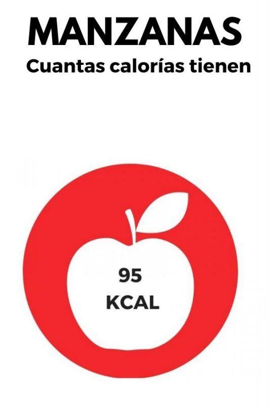Cuantas calorías tienen las manzanas