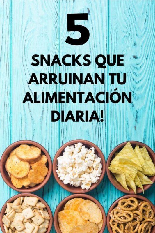 5 Snacks que arruinan tu ALIMENTACIÓN diaria! 1