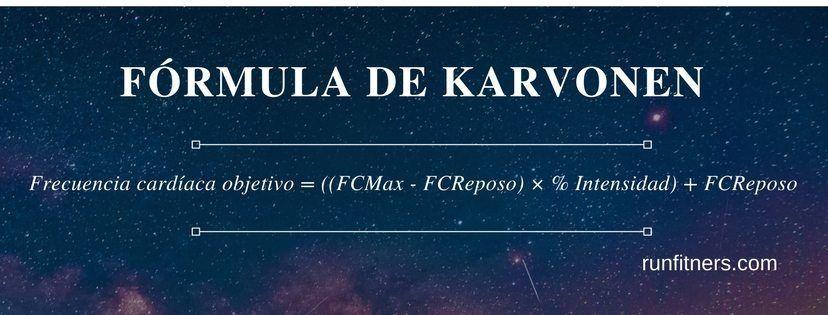 FÓRMULA DE KARVONEN