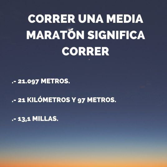 DISTANCIA MEDIA MARATÓN