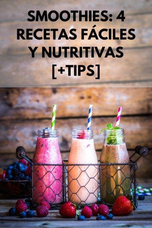 SMOOTHIES: 4 Recetas fáciles y nutritivas [+TIPS]