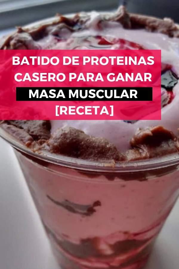 Batido de proteínas casero para GANAR MASA MUSCULAR [RECETA] 1