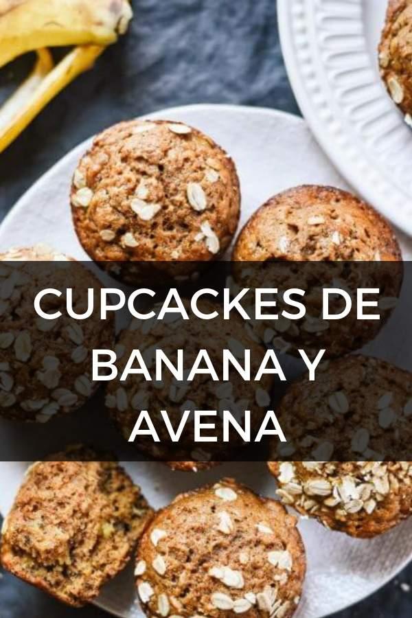 Cupcakes de BANANA y AVENA