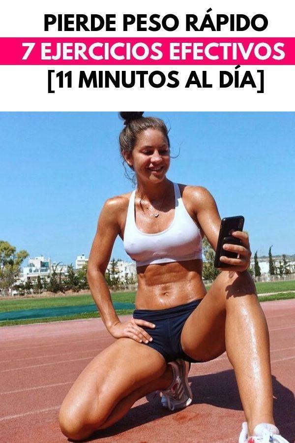 Pierde peso rápido: 7 ejercicios efectivos [11 minutos al día]
