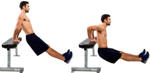 Fondos triceps para adelgazar brazos.