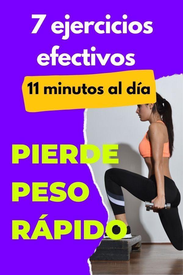 Pierde peso rápido: 7 ejercicios efectivos [11 minutos al día] 1