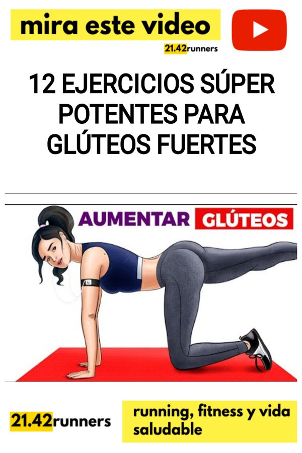 12 ejercicios SÚPER potentes para GLÚTEOS fuertes