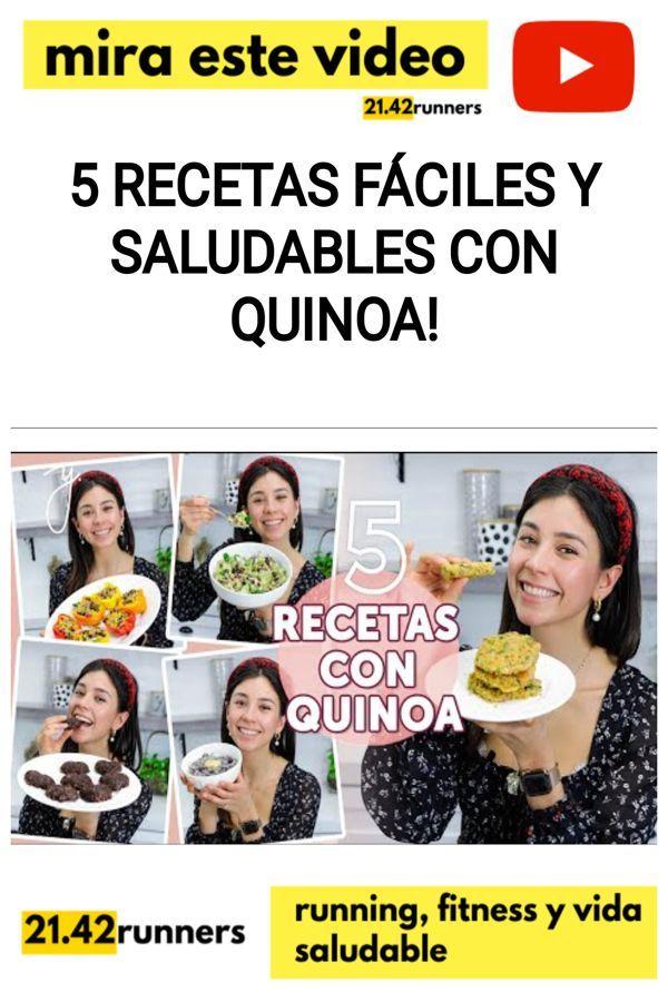 5 Recetas FÁCILES y SALUDABLES con QUINOA!