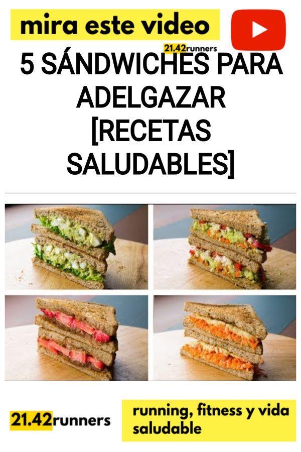 5 Sándwiches para ADELGAZAR [RECETAS SALUDABLES]