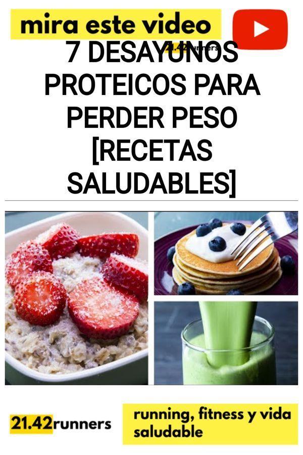 7 Desayunos proteicos para PERDER PESO [RECETAS SALUDABLES]