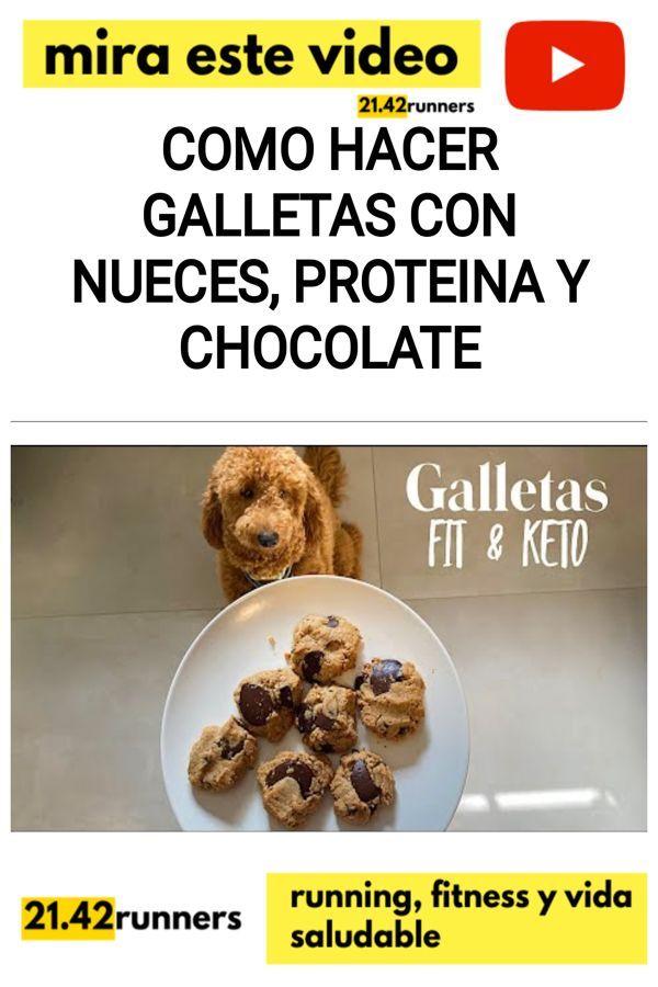Como hacer GALLETAS con NUECES, PROTEINA Y CHOCOLATE