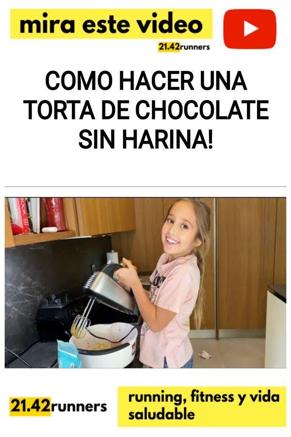 Como hacer una TORTA DE CHOCOLATE sin harina!