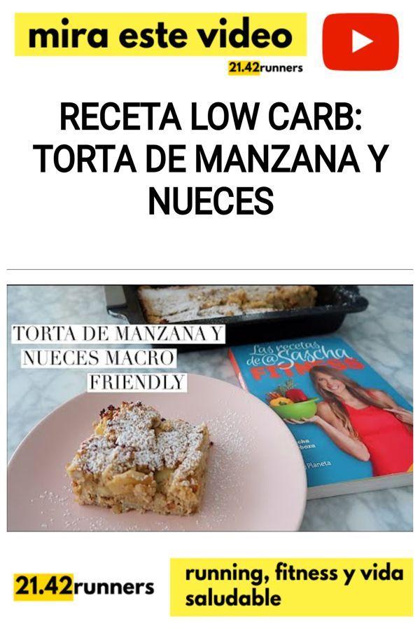 RECETA LOW CARB: Torta de MANZANA y NUECES