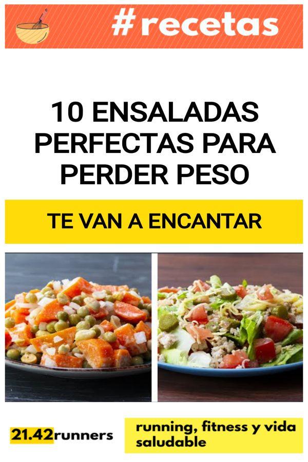 10 Ensaladas perfectas para PERDER PESO