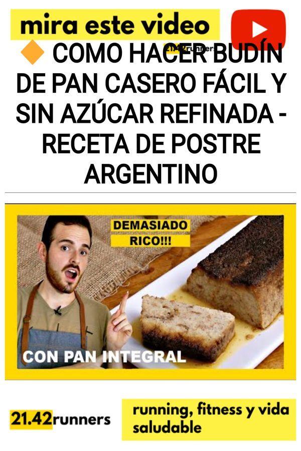 BUDÍN DE PAN casero [recetas creativas de pan]