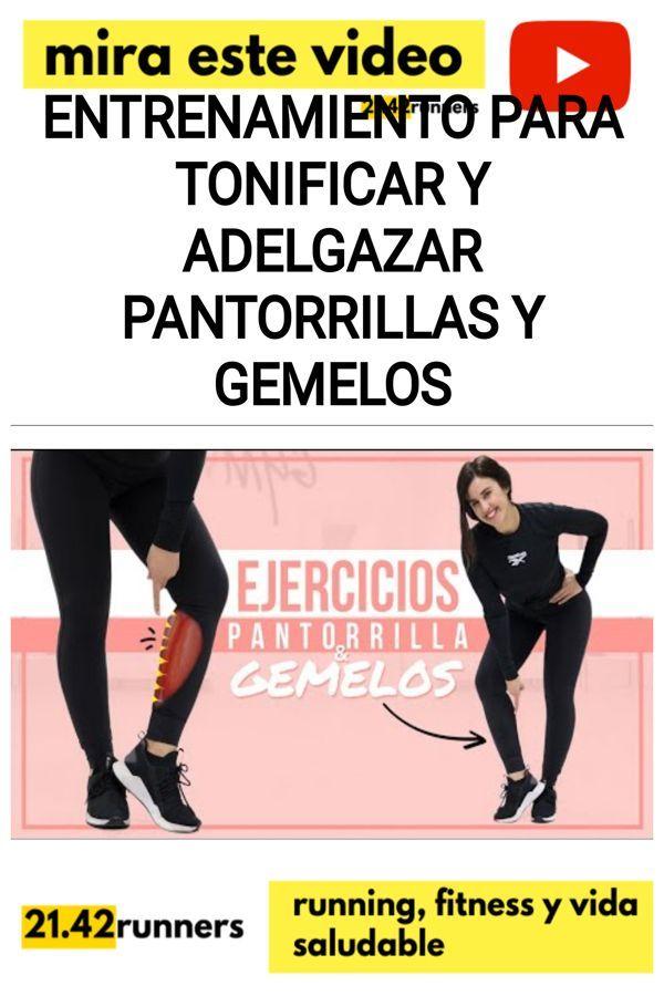 Entrenamiento para tonificar y adelgazar PANTORRILLAS y GEMELOS