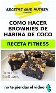 Como hacer BROWNIES de harina de coco RECETA FITNESS 1