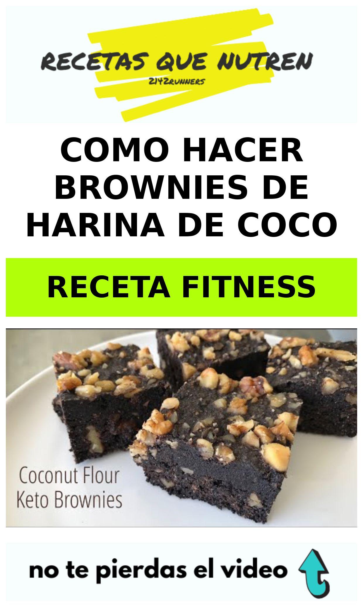 Como hacer BROWNIES de harina de coco