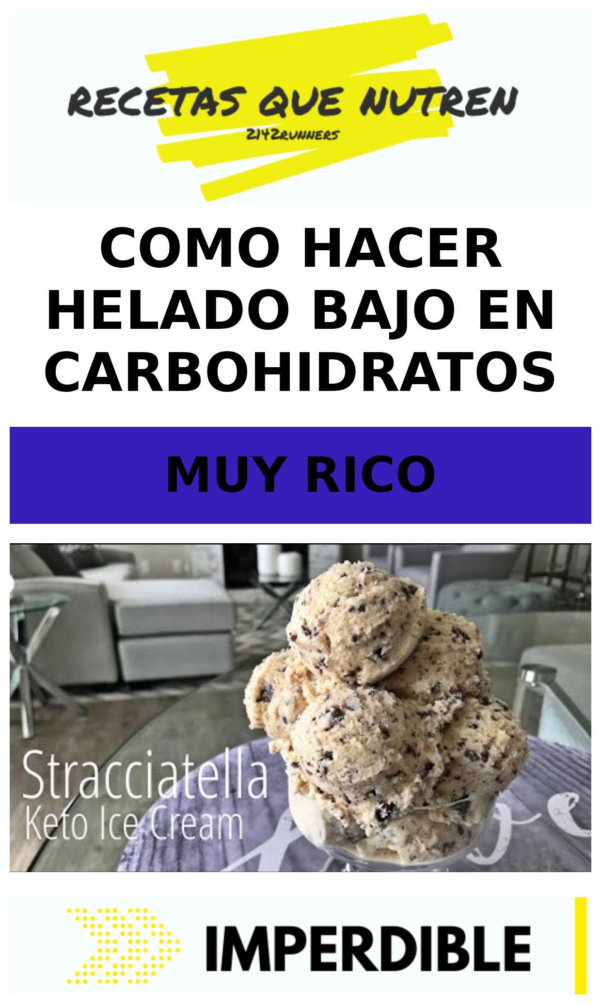 Como hacer helado bajo en carbohidratos