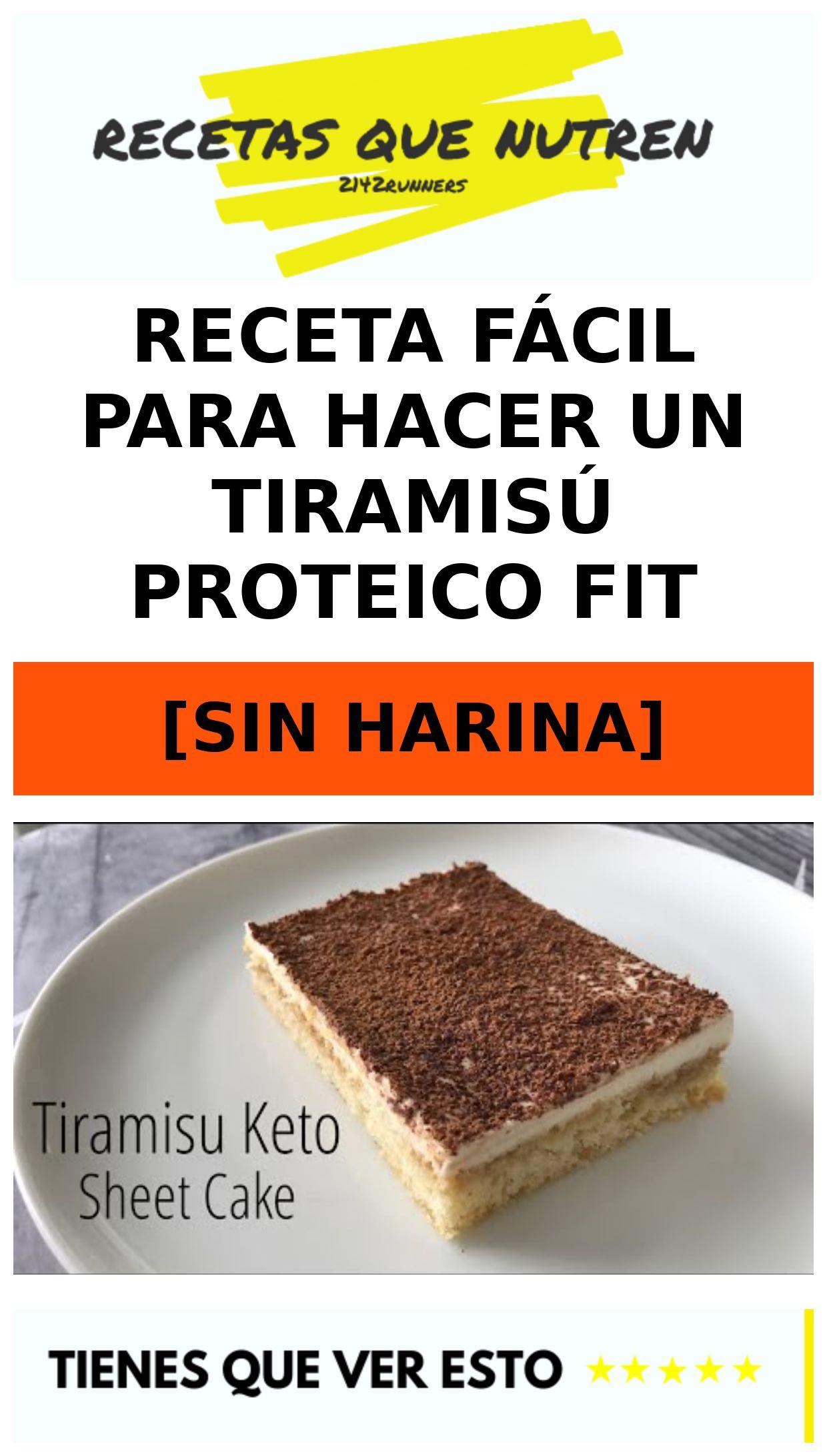 Receta fácil para hacer un TIRAMISÚ proteico fit