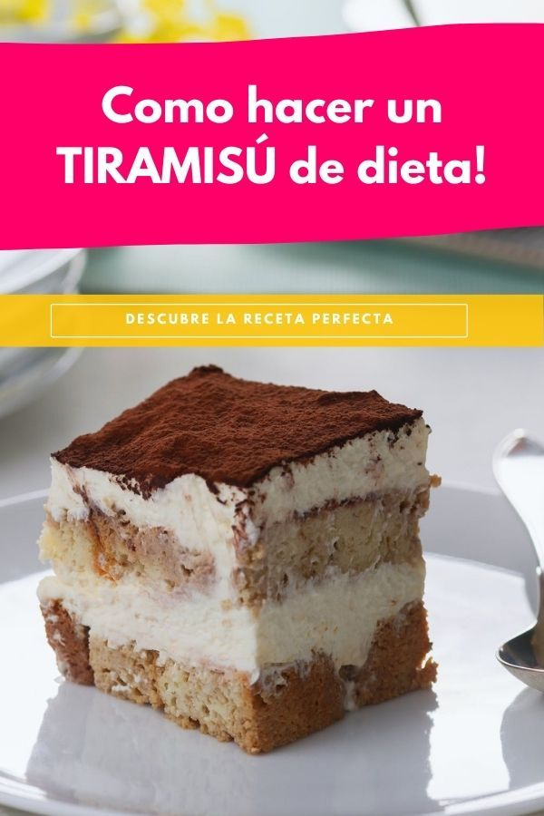 como hacer un tiramisu de dieta