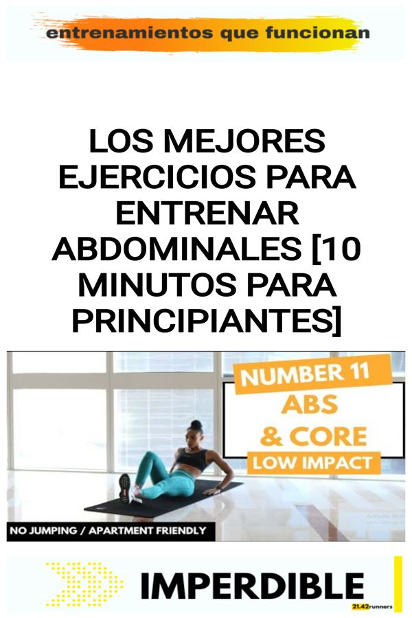 Los mejores ejercicios para entrenar abdominales [10 minutos para PRINCIPIANTES] 11