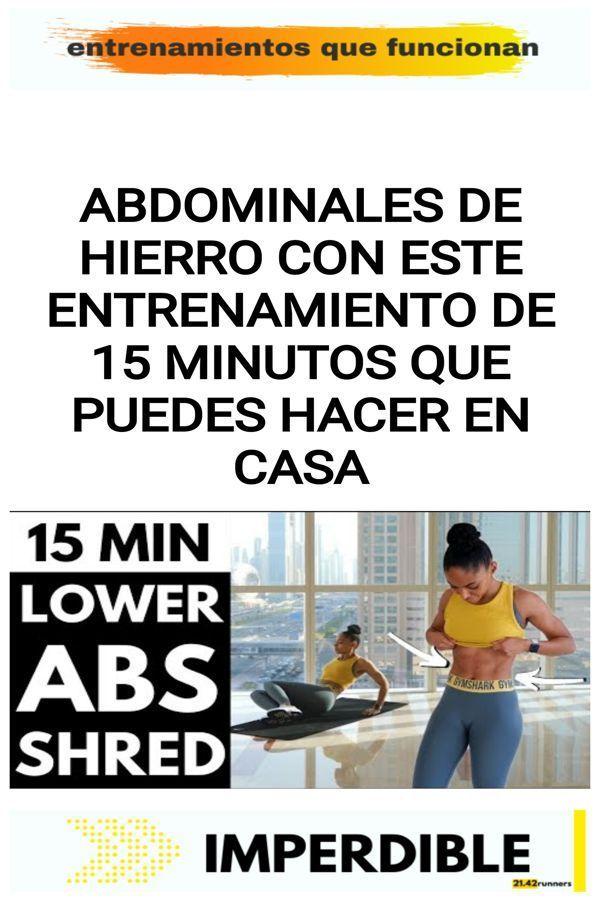 Abdominales de hierro con este entrenamiento de 15 minutos que puedes hacer en casa 23