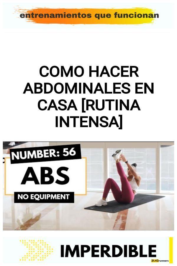 Como hacer abdominales en casa [RUTINA INTENSA] 20