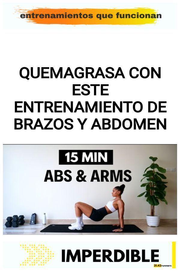Quemagrasa con este ENTRENAMIENTO DE BRAZOS Y ABDOMEN 18