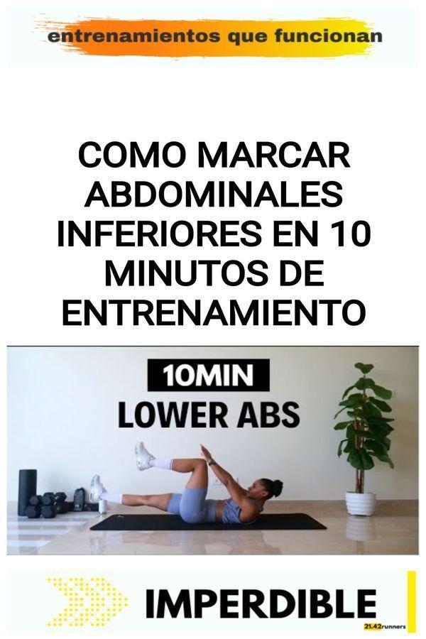 Como marcar abdominales inferiores en 10 minutos de entrenamiento 11