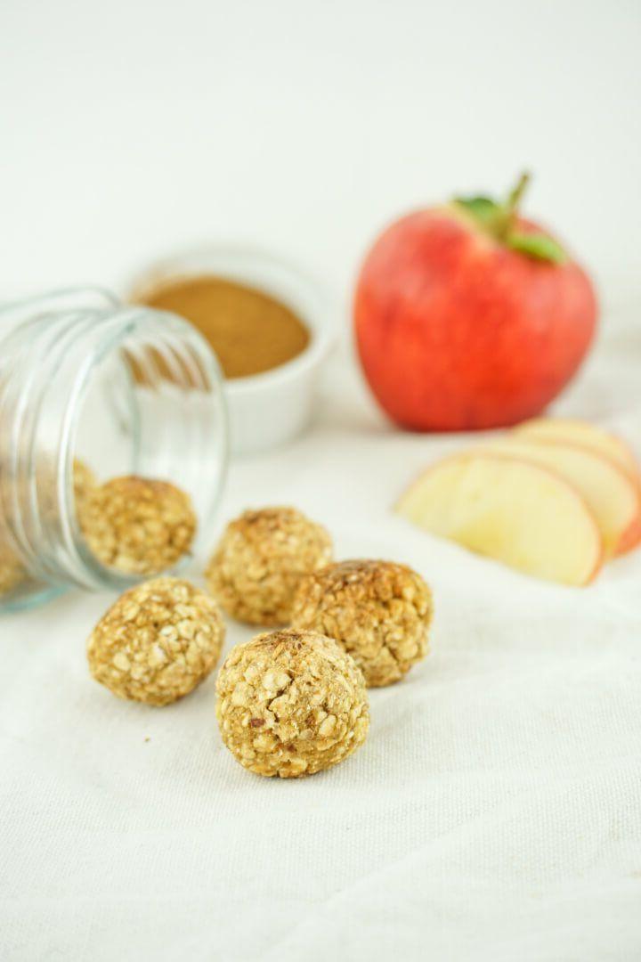 Bolas energéticas de manzana y canela: refrigerio saludable para el