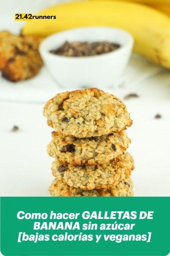 Como hacer GALLETAS DE BANANA sin azúcar [bajas calorías y veganas]
